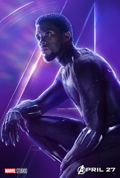 547266d6a8b AVENGERS  INFINITY WAR CHARACTER POSTER  BLACK PANTHER