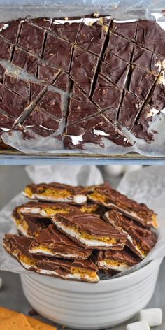 Bark This Smores Bark is 100 addictive! You have to make this incredible chocolate treat!This Smores Bark is 100 addictive! You have to make this incredible chocolate treat! Just Desserts, Delicious Desserts, Yummy Food, Easy Summer Desserts, Frozen Desserts, Holiday Desserts, Think Food, Love Food, Chocolate Treats