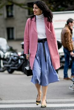 Pink and blue outfit idea  | For more style inspiration visit 40plusstyle.com
