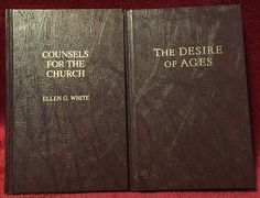 Ellen G White Duo: Counsels for the Church ~ Desire of Ages EGW SDA Books HB