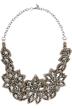 Valentino|Floral glass crystal necklace