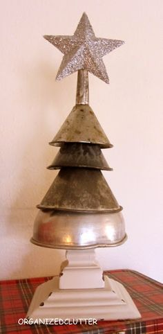 Funnel Christmas Tree .... Love this!!