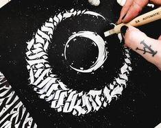 Geometric Art Tattoo, Queen Art, Sailor Moon Art, Skull Tattoos, Calligraphy Art, Watercolor Print, Tattoo Artists, Hand Lettering, Art Prints