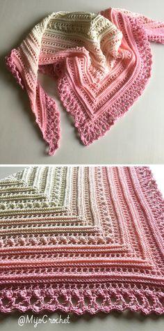 Knit Or Crochet, Crochet Scarves, Crochet Crafts, Crochet Stitches, Crochet Projects, Free Crochet, Shawl Patterns, Knitting Patterns, Crochet Patterns