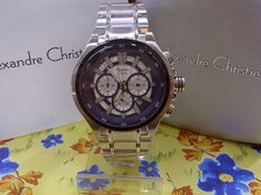 JAM TANGAN ALEXANDRE CHRISTIE MEN 6329 MC SILVER WHITE ORIGINAL