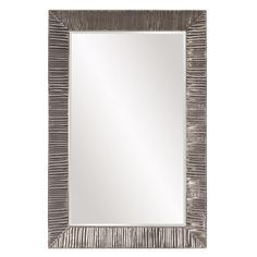 Tennessee 60-inch Textured Aluminum Rectangular Mirror