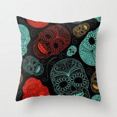 Halloween Shopaholic: Sugar Skull Pillows for Day of the Dead Decor