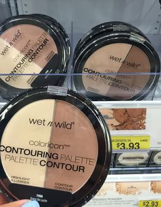 Wet n Wild Coloricon Contouring Palette In Dulce De Leche (if you are pale looking for a cheap contour/highlighter try it) it's huge for the cost!