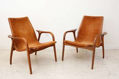 Pair of Lamino Low Back Lounge Chairs by Yngve Ekstrom