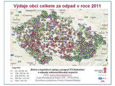 www.rozpocetobce.cz - Výdaje obcí celkem za odpady v roce 2011