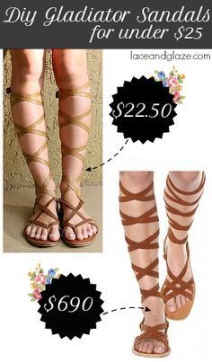 diy gladiator sandals for under $25!
