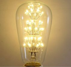 Get the look while saving energy. This vintage-inspired exposed LED light bulb is the ideal complement to instantly add character. The subtle warm glow of