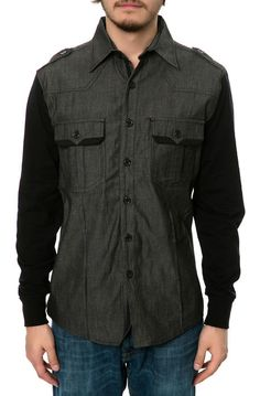 Springfield Classic Stealth Chambray Shirt by Springfield Classic