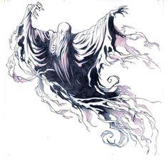 Harry Potter Fan Art, Harry Potter Dementors, Hery Potter, Harry Potter Tattoos, Ghost Tattoo, Hp Tattoo, Body Art Tattoos, Sleeve Tattoos, Tatoos