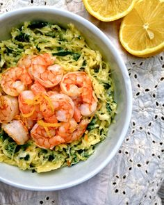 Spinach and Artichoke Spaghetti Squash with Shrimp