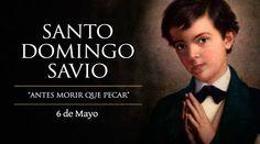 """""""¡Quiero ser santo!"""", solía decir Santo Domingo Savio, cuya fiesta se celebra cada 06 de mayo. Es Patrono de los niños cantores y también de las embarazadas por haber cumplido en su vida una misión de la Virgen María, mientras era guiado por San Juan Bosco."""