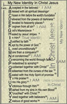 New Identity in Christ  Copyright 1990 Dr. Dan Cheatham