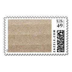 Cardboard Postage Stamp