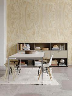 Rectangular #glass dining #table USM Haller Table USM Haller Table Collection by USM Modular Furniture | #design Fritz Haller @usmfurniture
