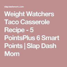 Weight Watchers Taco Casserole Recipe - 5 PointsPlus 6 Smart Points   Slap Dash Mom