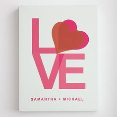 personalized love wall art