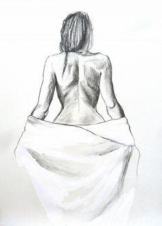 Gran dibujo pintura dibujo grabado a lápiz cartel por AlinaLouka
