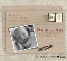 """BABY BOY BIRTH Announcements Digital Printable Personalized """"Special Delivery"""" - 81443945. $13.50, via Etsy."""