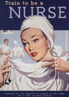 1940s Advertisement that makes me proud to be a nurse, even though I envy their beautiful white uniforms and nursing caps (not shown here!)