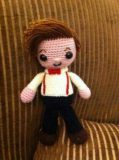 11th Doctor crochet doll
