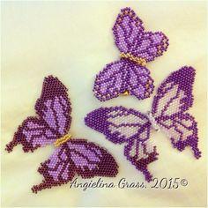 beaded purple butterflies for #LupusAwareness