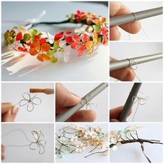 How to Made Beautiful Bracelet from Wire and Nail Polish