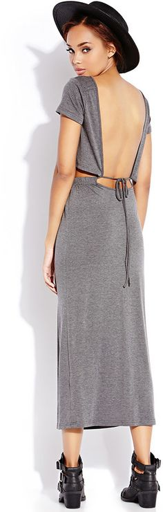 FOREVER 21 Must-Have Cutout Maxi Dress