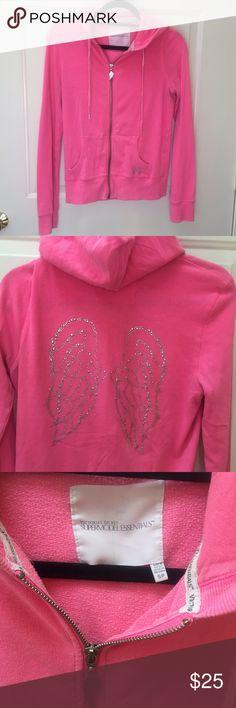 Victoria's Secret angel full zip American eagle • angel forever • full zip • rhinestone wings • small • Victoria's Secret Tops Sweatshirts & Hoodies