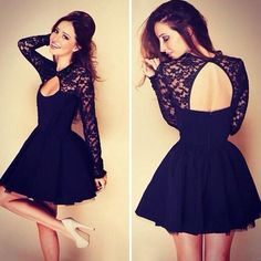 Find More Dresses Information about 2015 Summer Casual Dress Women Sexy lace patchwork Stitching Lace Backless Long Sleeve Party Dress hollow out backless dress ,High Quality dresses dresses and more dresses,China dress shoulder Suppliers, Cheap dress mini from Julybaby's Room Clothing Store on Aliexpress.com