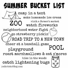 Summer is coming!  Summer Bucket List for life with young kids.