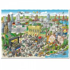 REFERENCIA: 3862 Marca: FABIO VETTORI  Las Hormigas de Fabio Vettori han ido de viaje a Berlin, uno de los pocos puzzles - ilustraciones de este autor realizados en color Dimensiones: 48,5 x 68,5 cm 1080 Piezas Encuéntralo en Puzzlemania.net Puzzles, City Photo, Painting, Wood Ants, Animales, Illustrations, Author, Puzzle, Painting Art