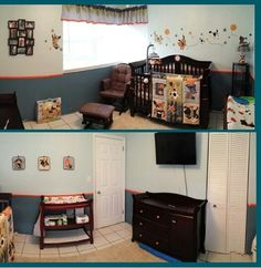 My baby boys nursery ♡ I love it! Bow Wow themed nursery by Lambs and Ivy.