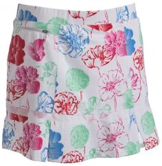 """Check out what #lorisgolfshoppe has for your days on and off the golf course! Bette & Court Ladies Twister 14"""" Pull On Golf Skorts - Floral Print"""