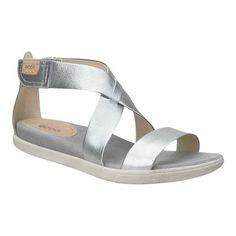 390f5f6593ae Women s ECCO Damara Strap Sandal - Alusilver Leather Sandals