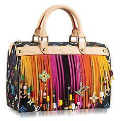 Louis Vuitton Fringed Speedy Handbag hobo purses and bags Hobo Handbags, Fashion Handbags, Purses And Handbags, Fashion Bags, Handbags Online, Women's Fashion, Fashion Trends, Vuitton Bag, Louis Vuitton Handbags