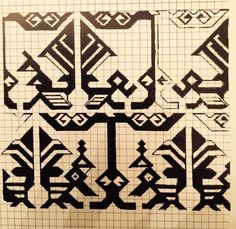 """Fostat rug fragment with birds motif, early 15th century, published at Carl Johan Lamm, """"Carpet Fragments"""""""