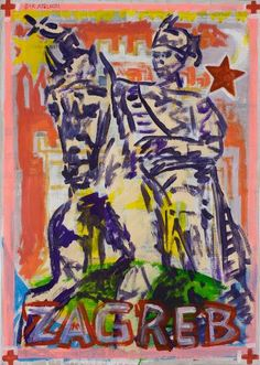 "Saatchi Art Artist Borai Kahne Ateliers; Painting, ""European Capital Cities - Zagreb"" #art"
