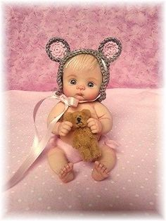 "❤OOAK HAND SCULPTED  MOUSE BABY ""TESS""   BY: JONI INLOW* DOLLY-STREET❤"