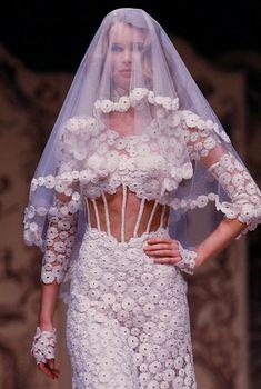 Claudia Schiffer, Haute Couture SS93. http://www.dazeddigital.com/fashion/article/16700/1/claudia-schiffer-on-model-life-in-1993