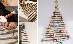 V. Gremillet - Système D Diy Christmas Tree, Christmas Time, Xmas, Kids And Parenting, Advent Calendar, Projects To Try, Holiday Decor, Branches, Home Decor