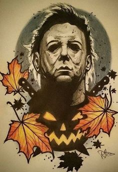 Halloween Illustration, Horror Movie Tattoos, Horror Movies, Halloween Horror, Halloween Art, Halloween Tattoo, Pumpkin Tattoo, Horror Artwork, Desenho Tattoo