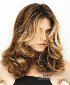 Franck Provost Lange Braun Weiblich Curly Farbige Multi-tonalen Französisch Frauen Erweiterungen Frisuren hairstyles