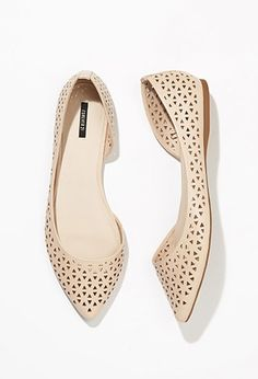 Perforated Faux Leather Flats | Forever 21 - 2002247742
