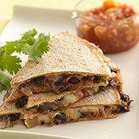 Bean and cheese quesadillas   Easy recipe.  I think you could also add some squash puree without altering the taste.