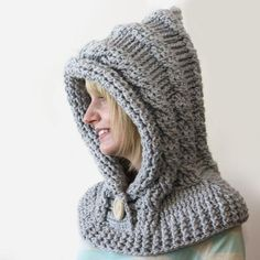 51 Degrees North - Crochet Hooded Cowl - Knitting Patterns and Crochet Patterns from KnitPicks.com